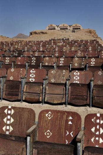 Um cinema ao ar livre abandonado no Egipto