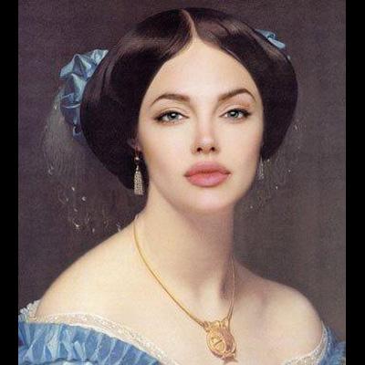 """O famoso programa informático Photoshop, muito usado para retocar as rugas nas fotos das celebridades, consegue fazer milagres quando usado por gente talentosa. Foi o que fizeram os mágicos do site worth1000.com, que transformaram uma série de celebridades em autênticas figuras renascentistas.Com a devida vénia, reproduzimos aqui 30 desses quadros, começando com o da """"princesa"""" Angelina Jolie."""