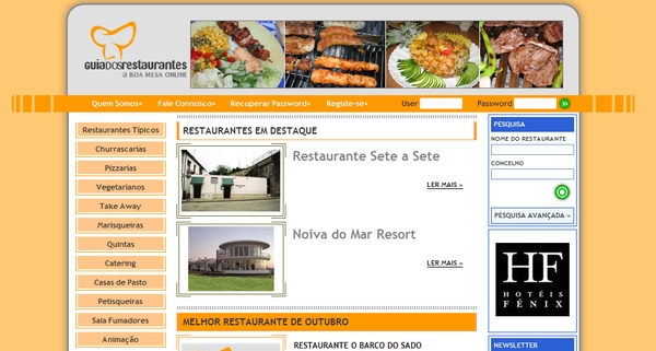 Guia dos Restaurantes