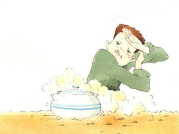Joca e o prato de sopa