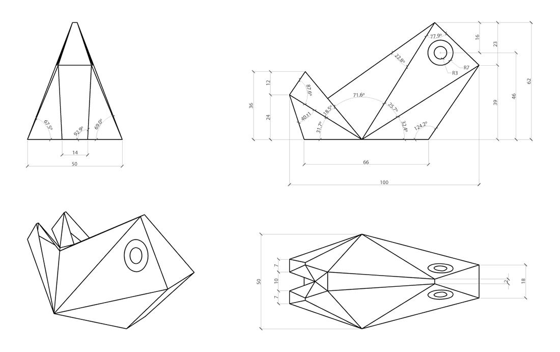 Geometria do modelo 3D