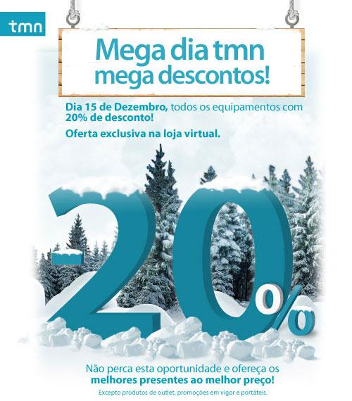 20% desconto na loja virtual tmn 15/12/2008 Tmn