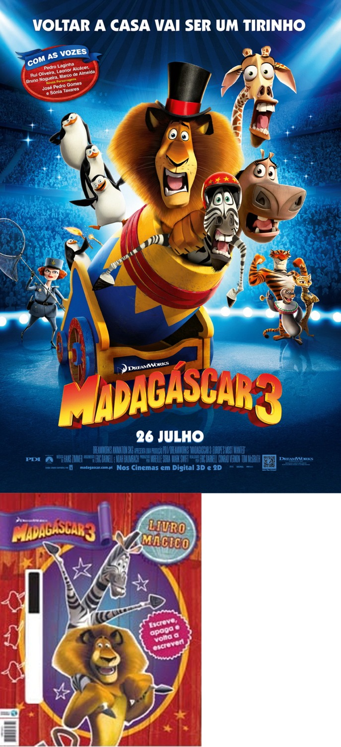 Madagáscar 3: Ganhe livros mágicos