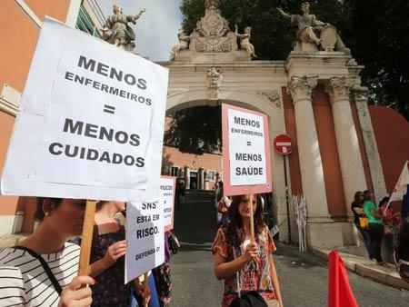 As imagens da greve dos enfermeiros em Lisboa