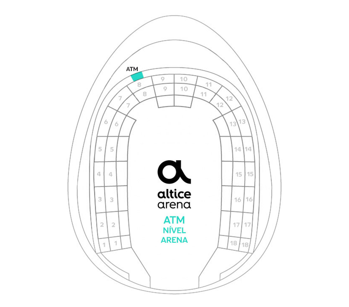 Mapa do Multibanco Arena Altice - Arena