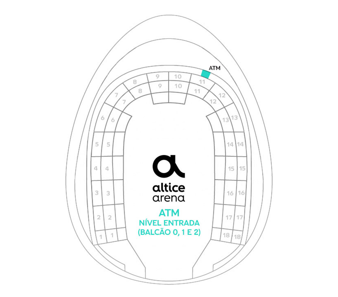Mapa do Multibanco Arena Altice - Entrada